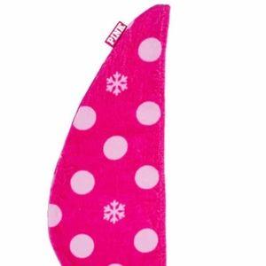 Victoria's Secret PINK Snowflake Hair Towel Wrap